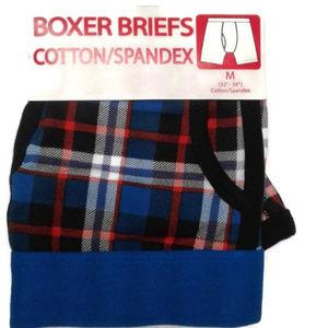 Men's boxer briefs plaid M 32 34 Blue red white